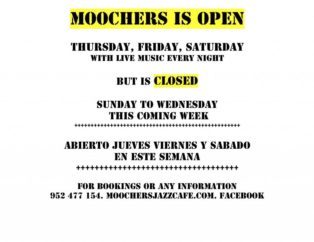 MOOCHERS IS OPEN 2017